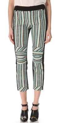 10 Crosby Derek Lam Three Tone Striped Pants