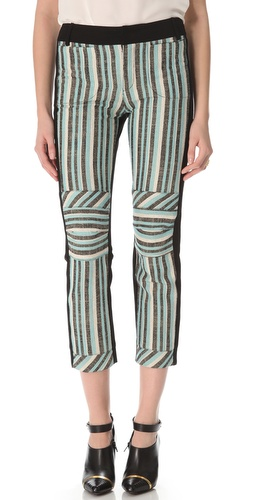 10 Crosby Derek Lam Three Tone Striped Pants