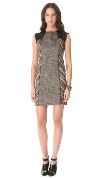 10 Crosby Derek Lam Linen Lurex Sheath Dress