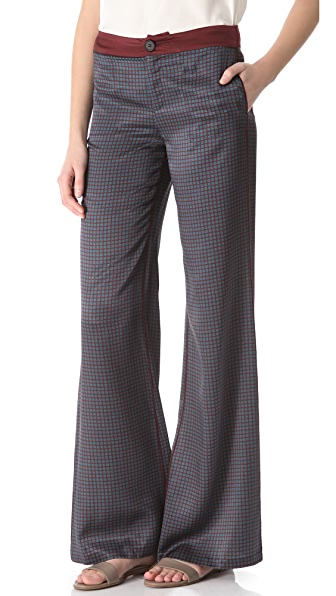 Derek Lam 10 Crosby Printed Wide Leg Pants