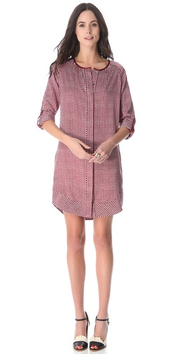 10 Crosby Derek Lam Square Print Tunic Dress