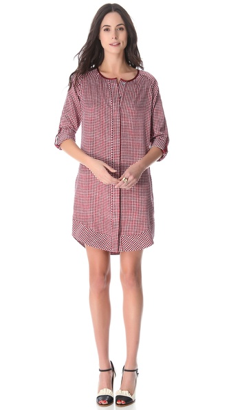 10 Crosby Derek Lam Square Print Tunic Dress
