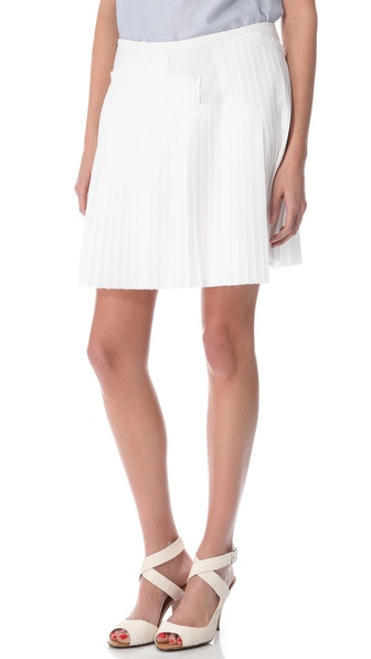 10 Crosby Derek Lam Poplin Pleated Skirt