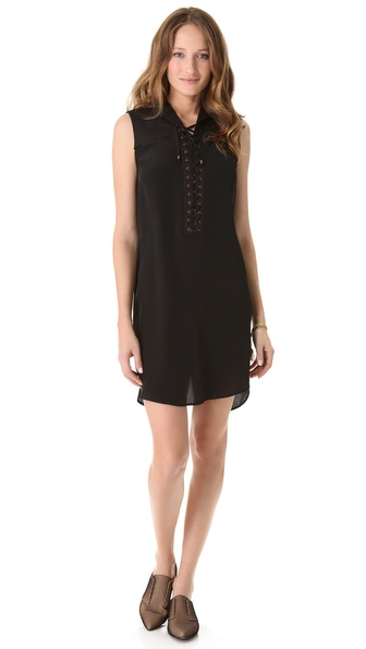 10 Crosby Derek Lam Lace Up Sleeveless Dress
