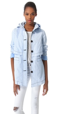 10 Crosby Derek Lam Chambray Hooded Parka