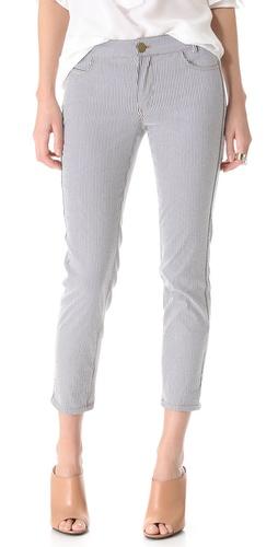 10 Crosby Derek Lam Cropped Stripe Jeans