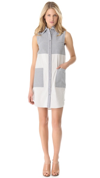 10 Crosby Derek Lam Seersucker Tunic Dress
