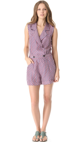 10 Crosby Derek Lam Diamond Open Back Romper