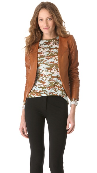 10 Crosby Derek Lam Laced Leather Jacket