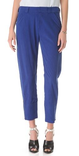10 Crosby Derek Lam Slouchy Silk Trousers