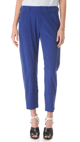 10 Crosby Derek Lam Slouchy Silk Trousers