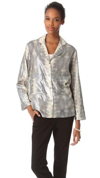 10 Crosby Derek Lam Lizard Pajama Shirt