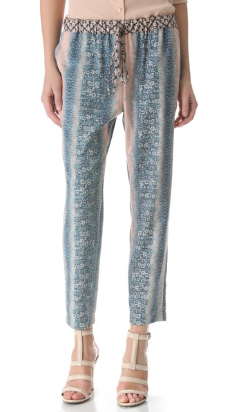 10 Crosby Derek Lam Lizard Print Slouchy Trousers