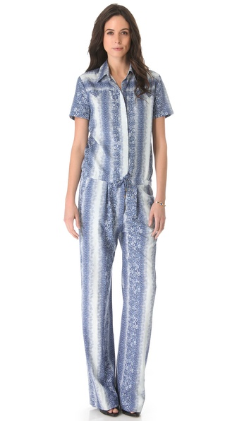 10 Crosby Derek Lam Lizard Print Jumpsuit
