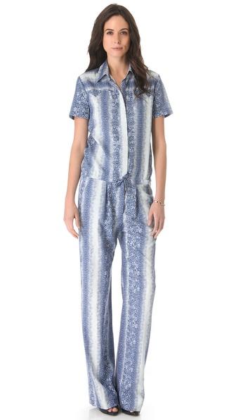 Derek Lam 10 Crosby Lizard Print Jumpsuit