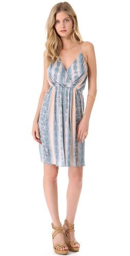 10 Crosby Derek Lam Lizard Jersey Halter Dress