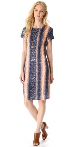 10 Crosby Derek Lam Lizard Jersey Tee Dress