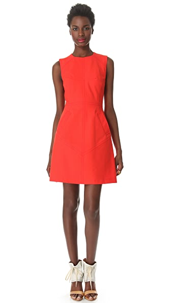 Derek Lam 10 Crosby Seamed Sleeveless Dress