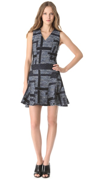 10 Crosby Derek Lam Tweed Tulip Dress