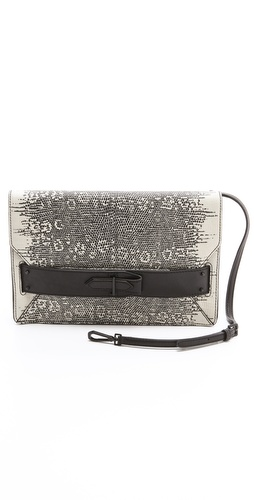 10 Crosby Derek Lam Lizard Print Folio Clutch at Shopbop.com
