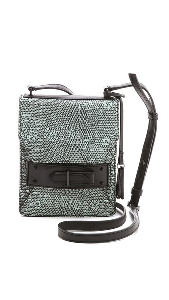 10 Crosby Derek Lam Lizard Folio Cross Body Bag