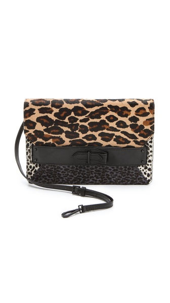 10 Crosby Derek Lam Leopard Folio Haircalf Clutch