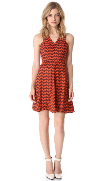 10 Crosby Derek Lam Sleeveless Godet Dress