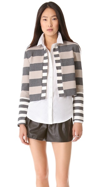 10 Crosby Derek Lam Striped Cardigan Jacket