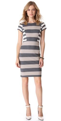 10 Crosby Derek Lam Short Sleeve Striped Dress