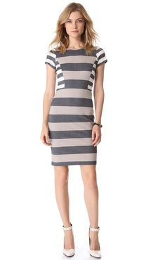 10 Crosby Derek Lam Short Sleeve Striped Dress