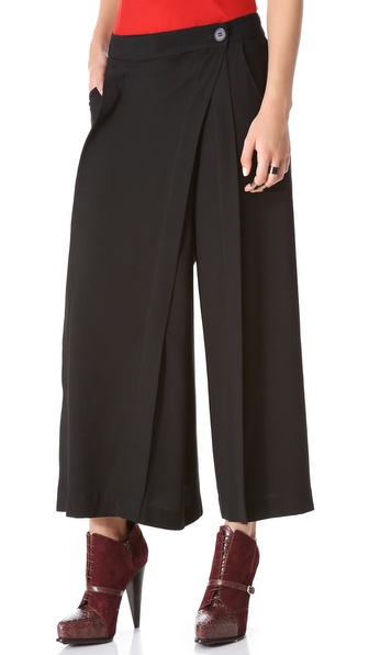 10 Crosby Derek Lam Pleated Wide Leg Pants