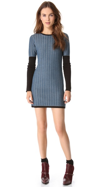 10 Crosby Derek Lam Cable Knit Dress