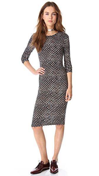 Derek Lam 10 Crosby Leopard Print Jersey Dress