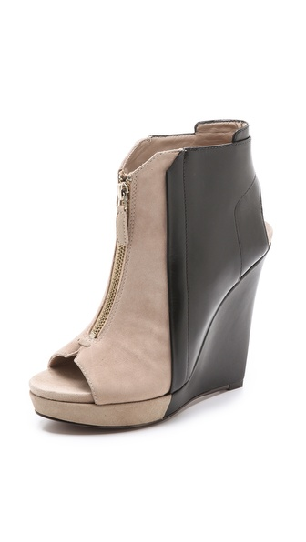 10 Crosby Derek Lam Gen Bicolor Wedge Booties