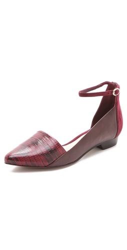 10 Crosby Derek Lam Avery Ankle Strap Flats - Shopbop