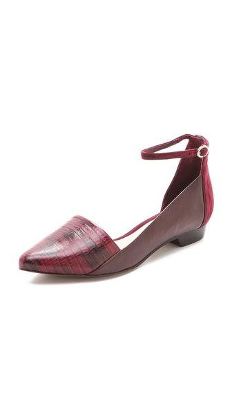 Derek Lam 10 Crosby Avery Ankle Strap Flats