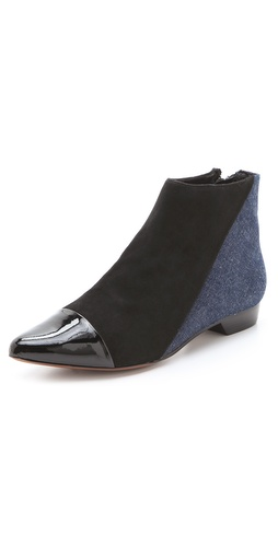 10 Crosby Derek Lam Austin Pointed Flat Booties - Shopbop