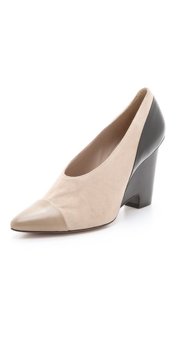 10 Crosby Derek Lam Ynez Choked Wedge Pumps - Shopbop