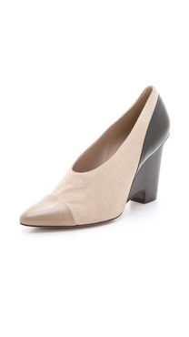 10 Crosby Derek Lam Ynez Choked Wedge Pumps