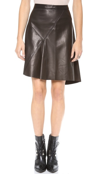 10 Crosby Derek Lam Asymmetrical Leather Skirt