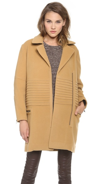 10 Crosby Derek Lam Engineered Long Moto Coat