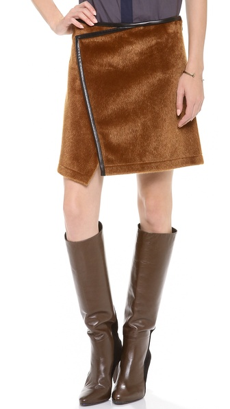 10 Crosby Derek Lam Imitation Ponyhair Skirt