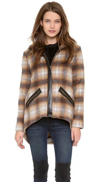 10 Crosby Derek Lam Plaid Jacket with Back Tail