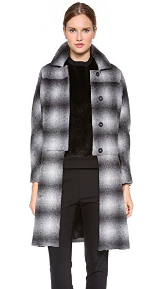Derek Lam 10 Crosby Oversized Plaid Coat