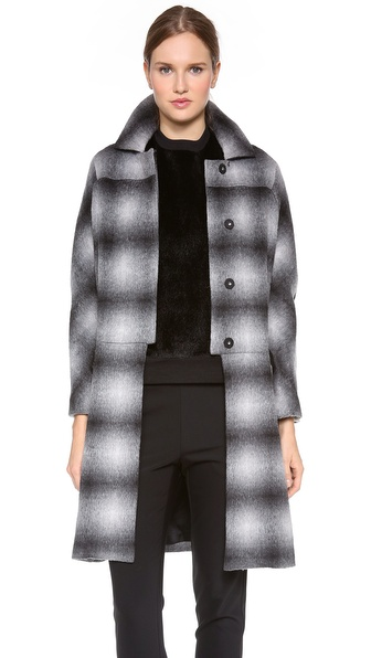 10 Crosby Derek Lam Oversized Plaid Coat