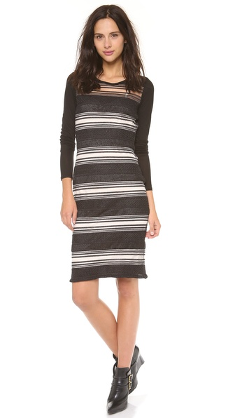 10 Crosby Derek Lam Sheer Stripe Sweater Dress