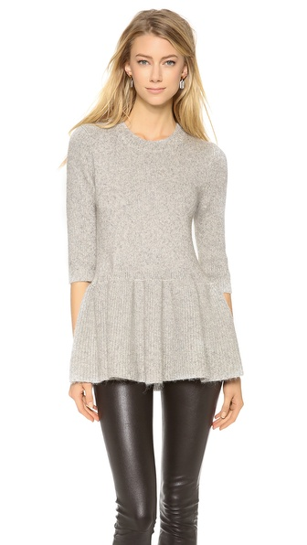 10 Crosby Derek Lam Peplum Sweater