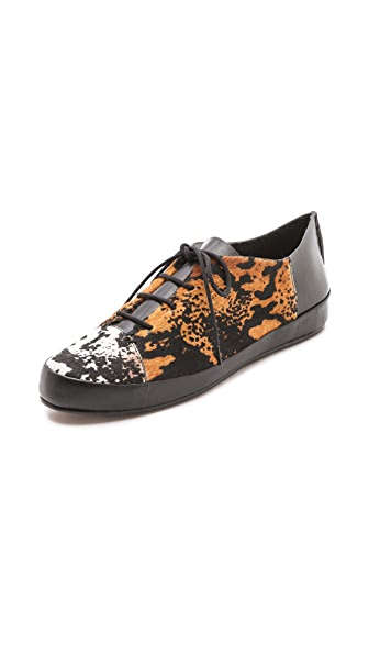 Derek Lam 10 Crosby Jo Lace Up Haircalf Sneakers