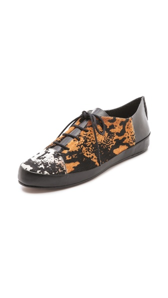 10 Crosby Derek Lam Jo Lace Up Haircalf Sneakers