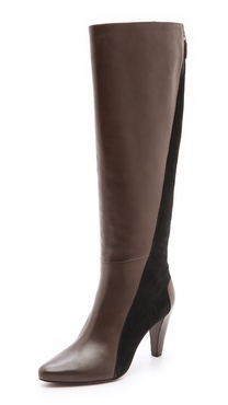 10 Crosby Derek Lam Sammie Two Tone Tall Boots